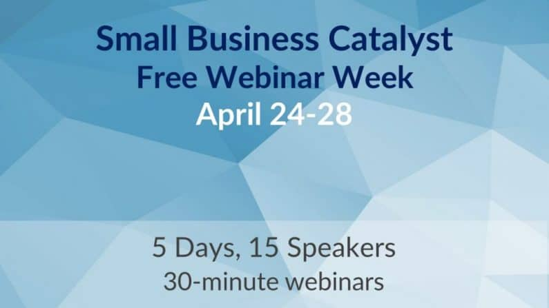 Small Business Catalyst Webinars